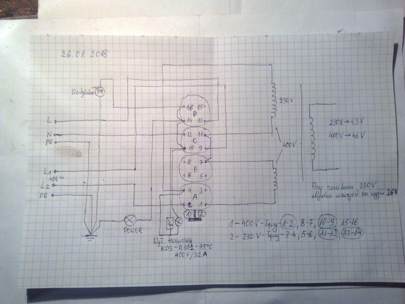 Einhell Euromaster PES 160F jak poskładać przełącznik kende HZ8B-20/3/4