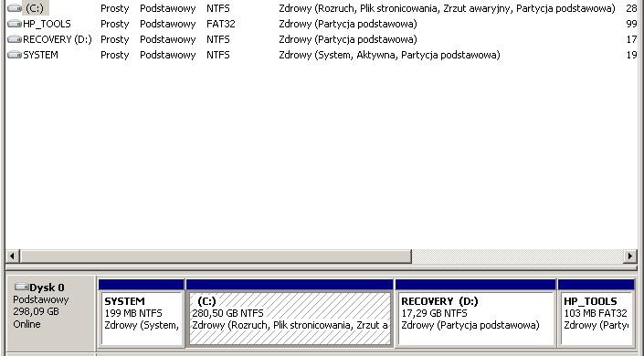 HP Compaq Presario CQ56 - Windows 7 HP x64: Podzia� patycji C bez utraty danych