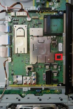 Uszkodzena płyta główna TNPH0937 telewizor TX-P50G30E