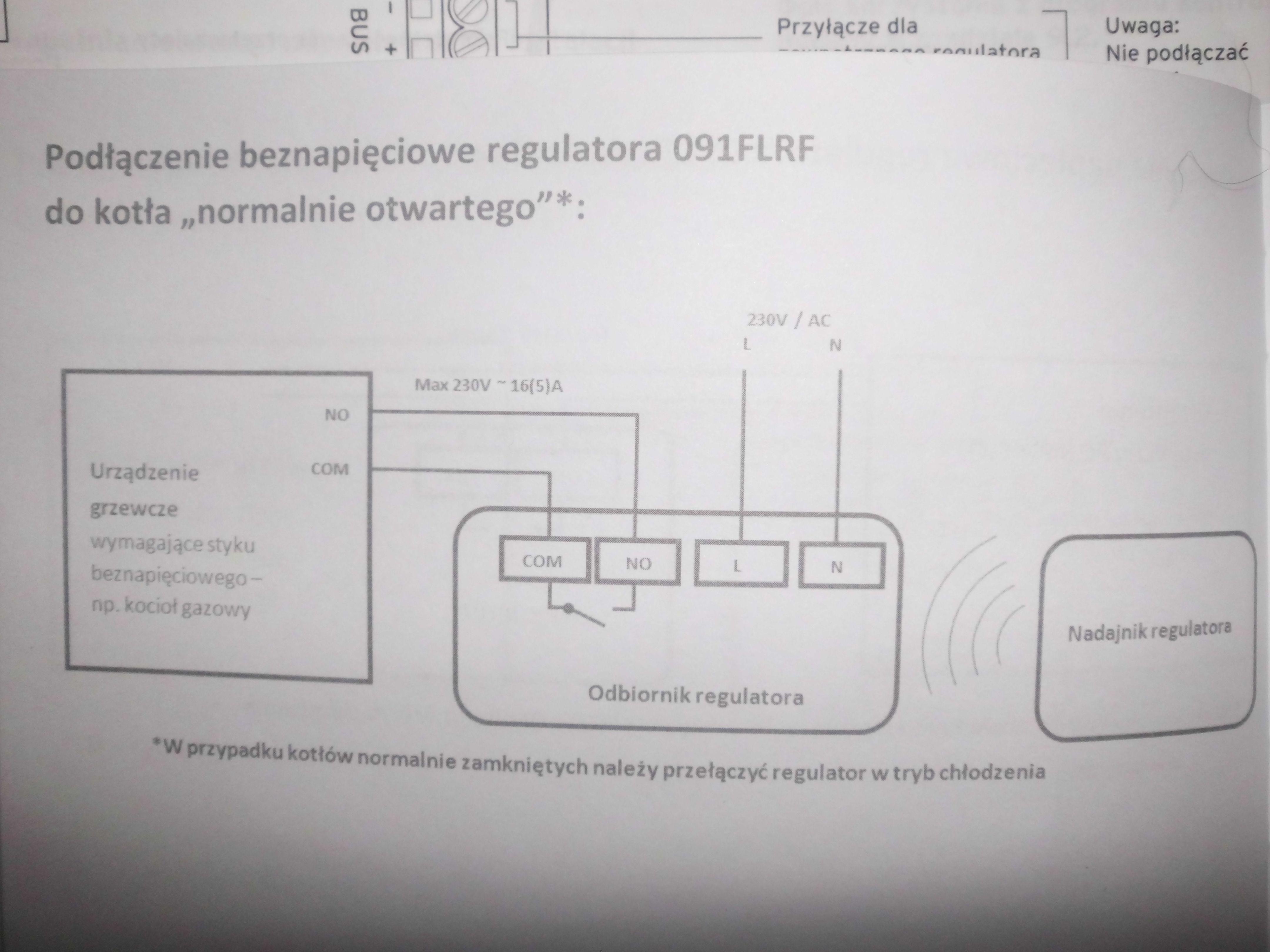 Sterownik Salus 091FLRF- pod��czenie.