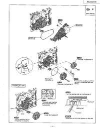 Wieża Technics RS-CH770 - jak założyć paski w magnetofonie
