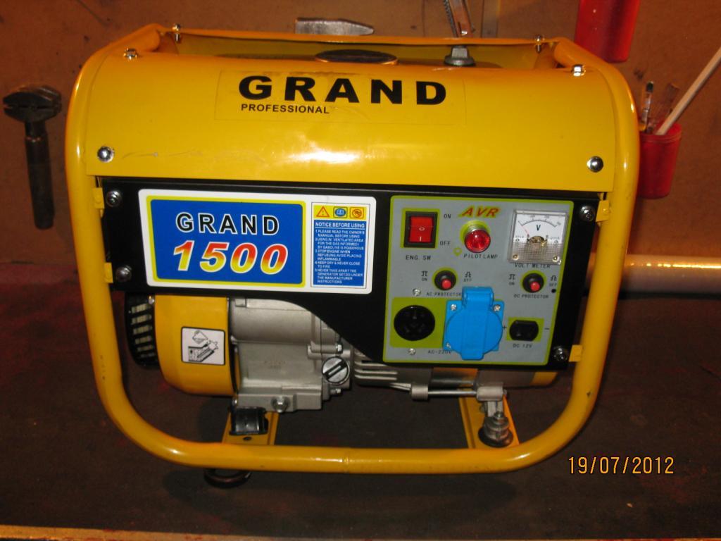 Agregat pr�dotw�rczy GRAND 1500 nie dzia�a, niskie napi�cie