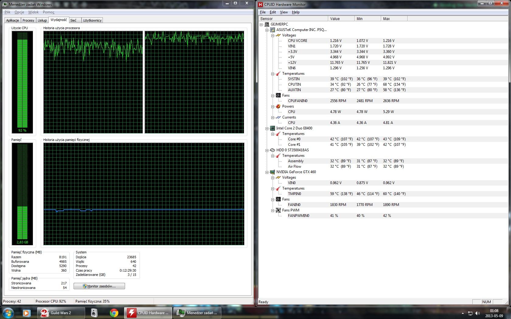 Ponad 90% zu�ycia CPU - szukam przyczyny