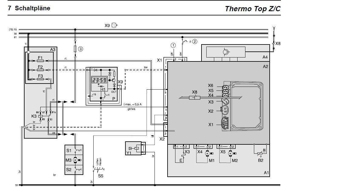 Schema Elettrico Webasto Thermo Top C : Jak podłączyć webasto thermo top c elektroda pl