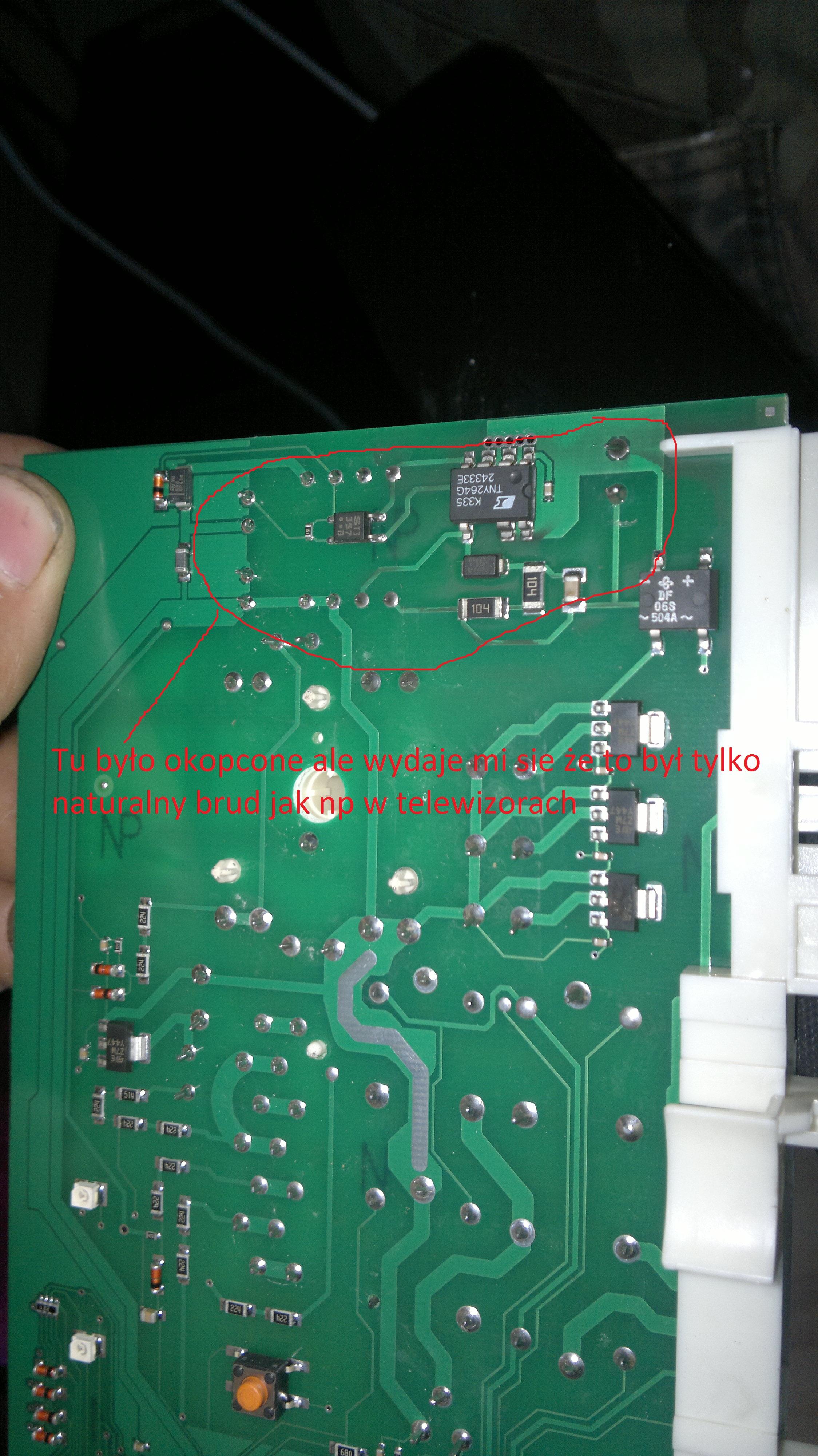 Amica PC4580B425 - Uszkodzony programator