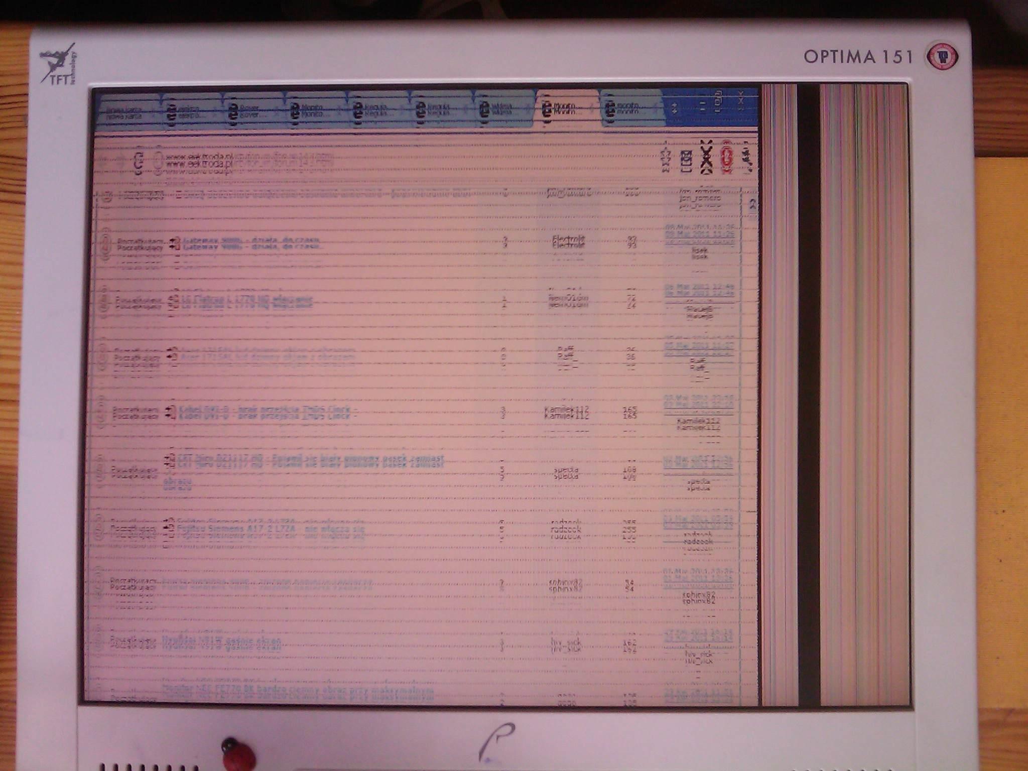 """RoverScan Optima 151 - obraz przesuni�ty i """"posiekany"""""""