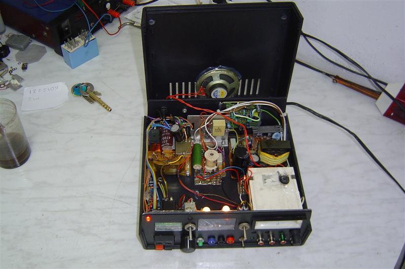 Tester transformatorów WN, zasilacz.