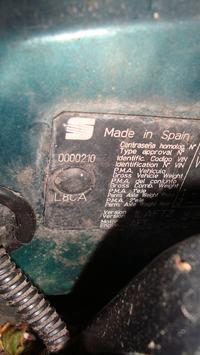 Seat Toledo 1L - Kolor lakieru, jak sie upewnić jaki jest