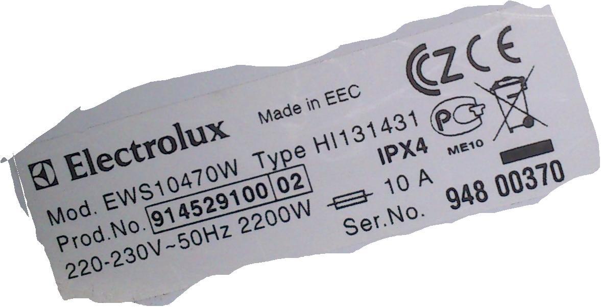 [Sprzedam] Electrolux Inspire EWS 10470 W