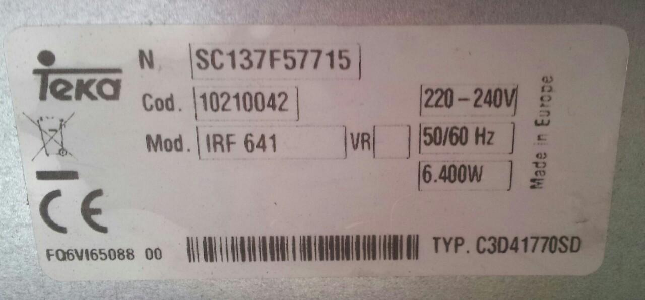 P�yta indukcyjna Teka IRF 641 - Pod��czenie do si�y