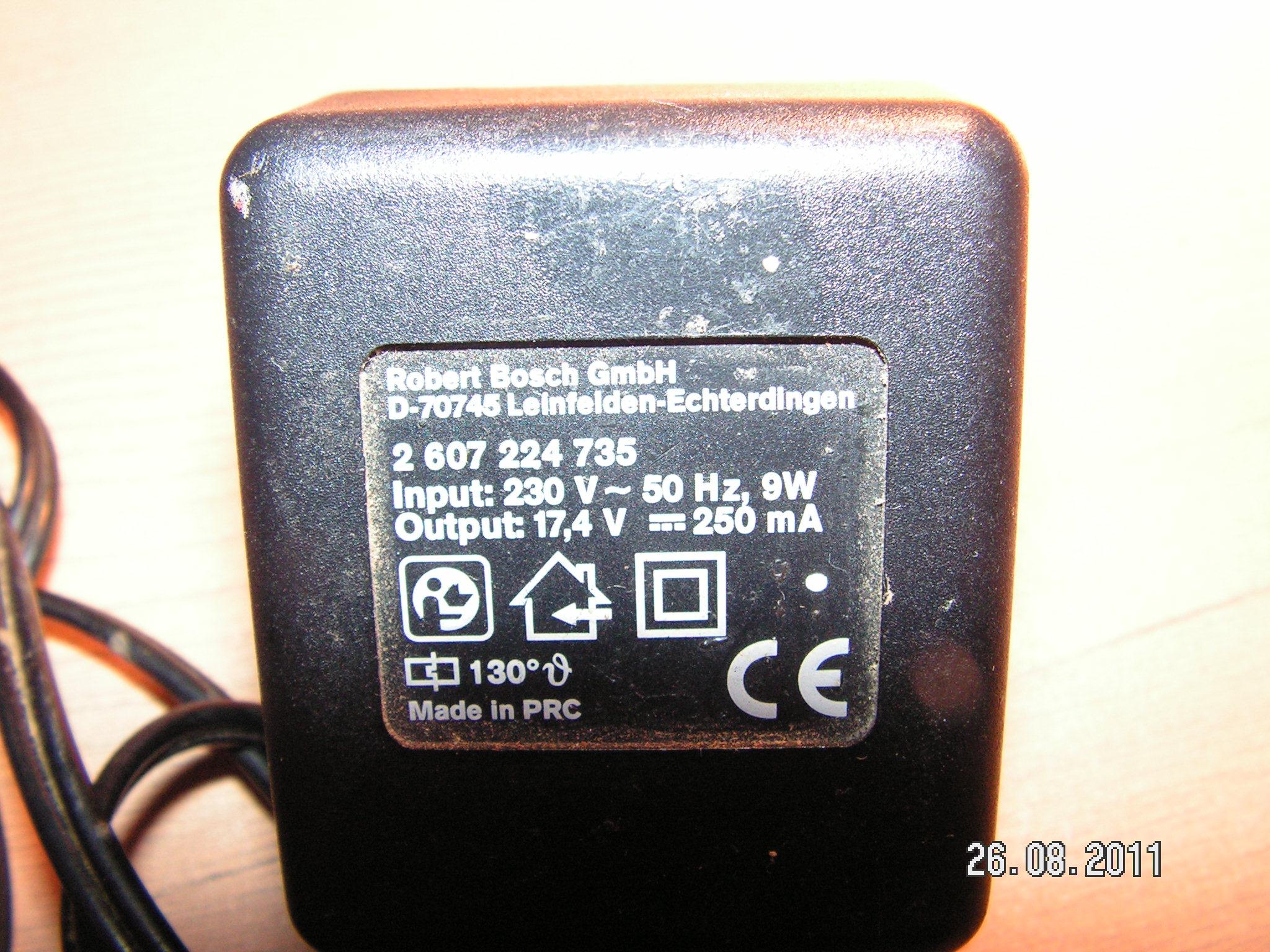Zmiana parametr�w wyj�ciowych �adowarki sieciowej do akumulatora