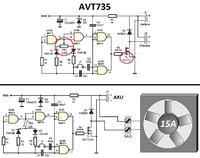 AVT735 Przerobka na termistor