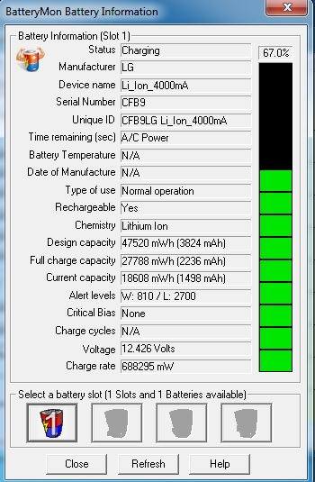 Acer V3-571 - Regeneracja baterii AS10D81 BQ20Z955