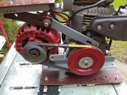 Agregat 12V z alternatora i silnika honda G100