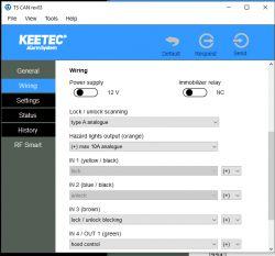 Podłączenie alarmu CAN KEETEC TS CAN rev 03 do Volvo V50 2007 rok
