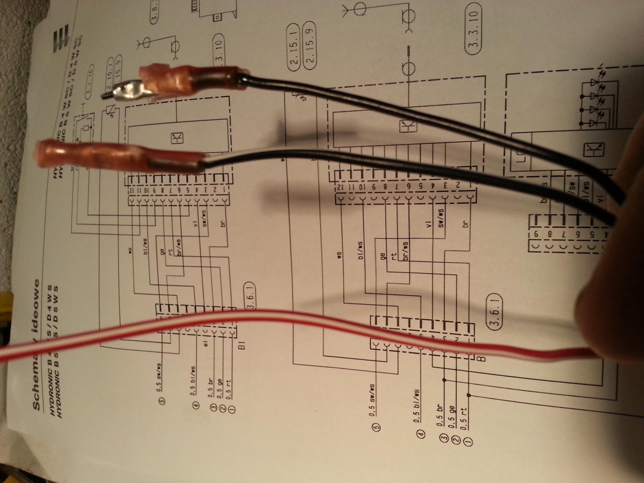 Eberspacher D5WSC z EasyStart R+  -  pod��czenie, pin 9
