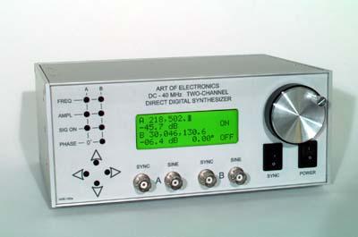 Dwukana�owy syntezer cz�stotliwo�ci od 0 do 35 MHz
