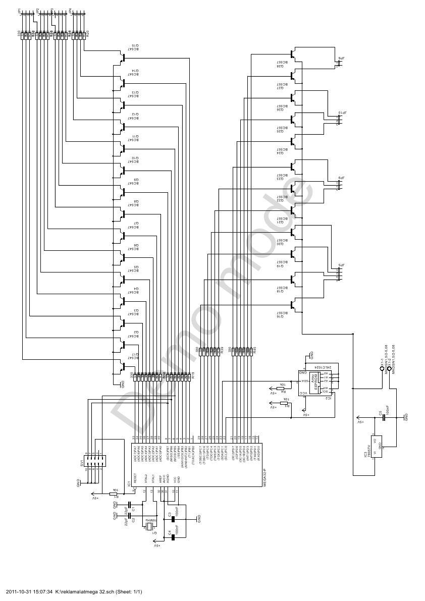 S�abe �wiece diod w matrycy diodowej RGB 5X12
