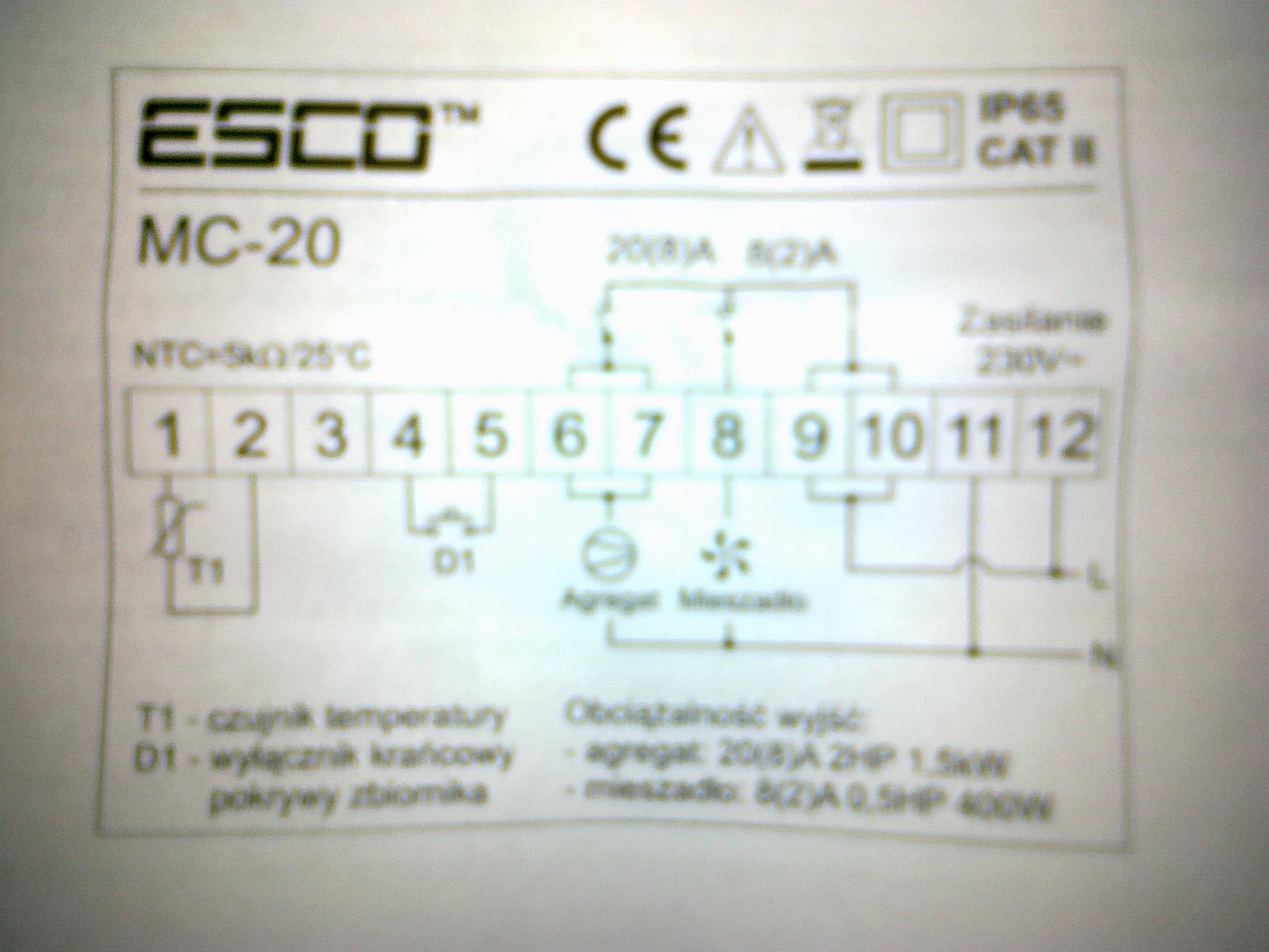 ESCO MC-20 - obja�nienie schematu