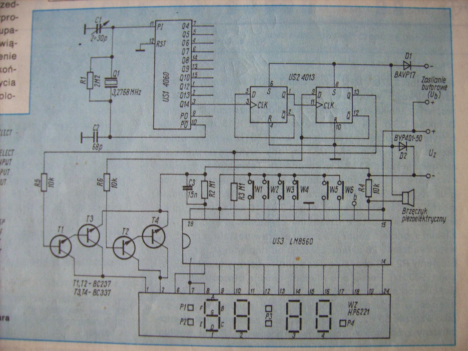 Электрическая схема массажера