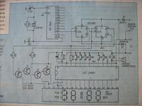 Zegar na LM8560 wyświetla 7L7