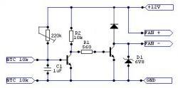 Sterownik wentylatora (komputer/wzmacniacz)