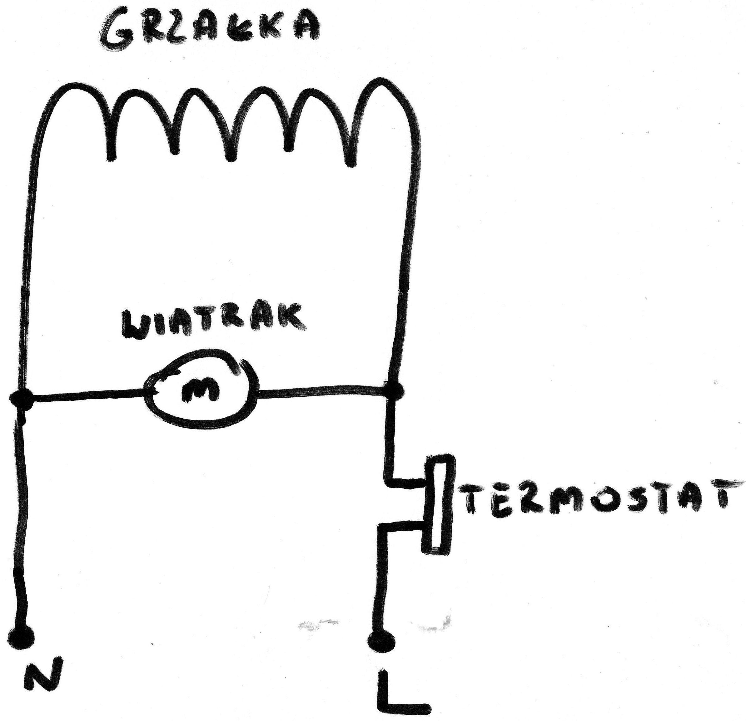 Prosty schemat piekarnika z termoobiegiem