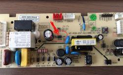 Lodowka Hoover HVBF6182XFHK - nie wlacza sie, nie ma swiatla.