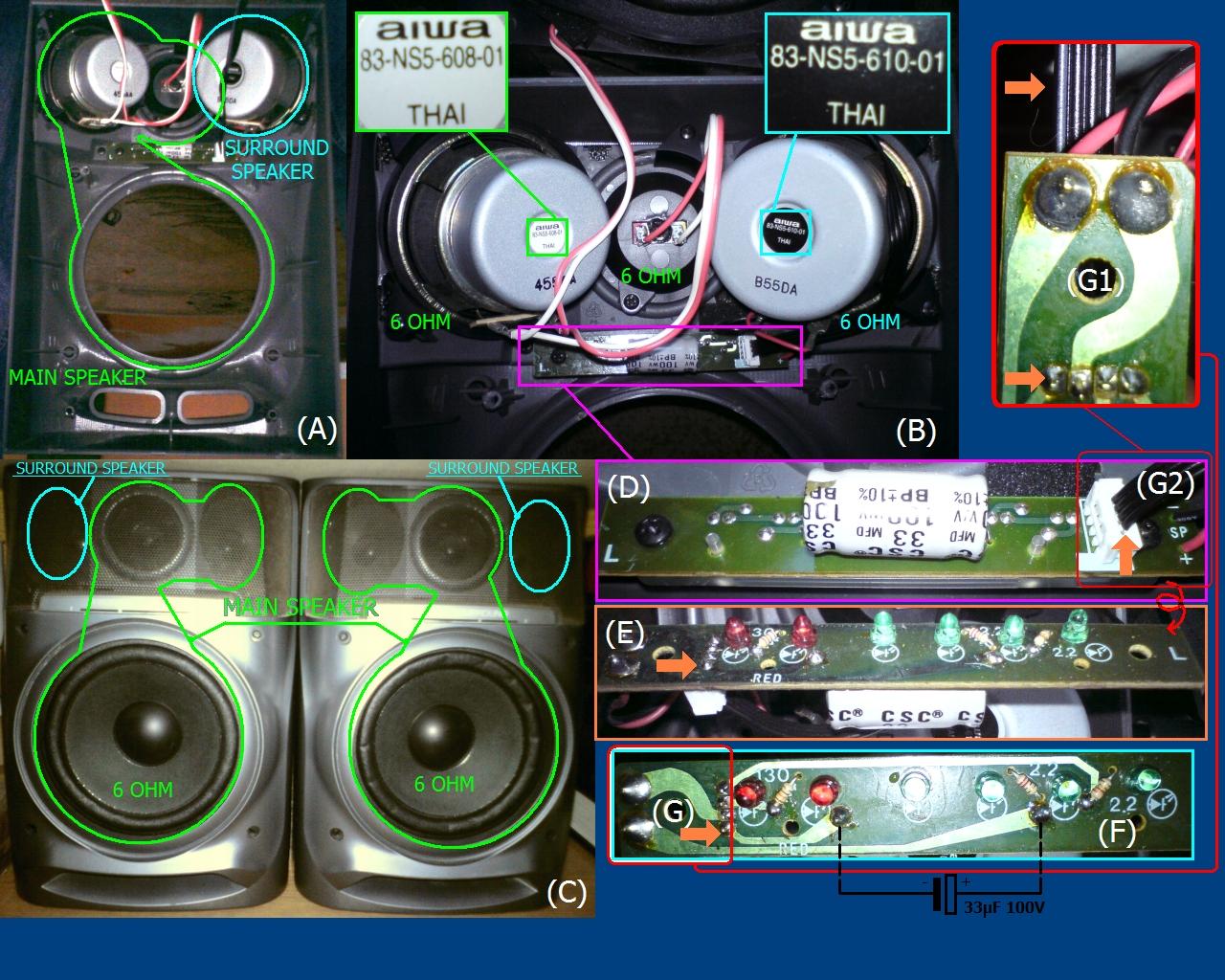 Speaker Diagram And Parts List For Panasonic Audioequipmentparts