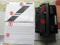 HP 1010 - Drukarka wypuszcza czarne kartki.