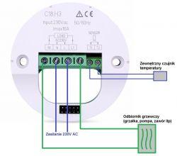 Podłączenie termostatu pokojowego do pieca akumulacyjnego.
