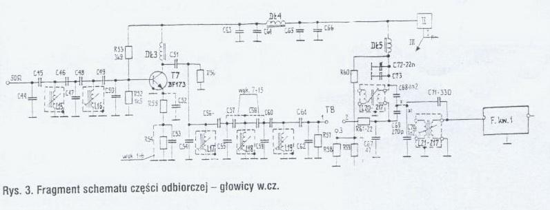 Radmor 3033 - Jakie warto�ci kondensator�w