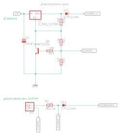Układ ładowania akumulatorów. Problem ze spadkiem napięcia