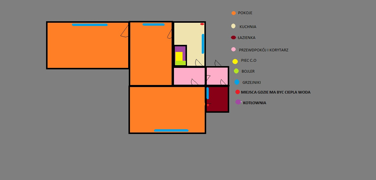 Projekt CO - Projekt CO + CWU mieszkanie 70m2