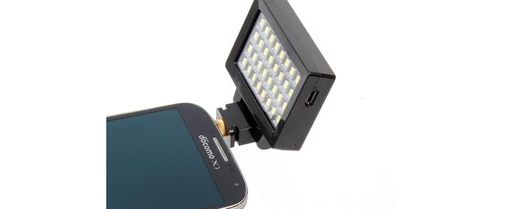 32 LED Smartphone Flash - zewn�trzna lampa filmowa dla telefon�w smartphone