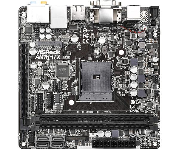 ASRock AM1H-ITX - p�yta Mini-ITX z AM1, obs�ug� APU AMD i zasilaczem DC-DC