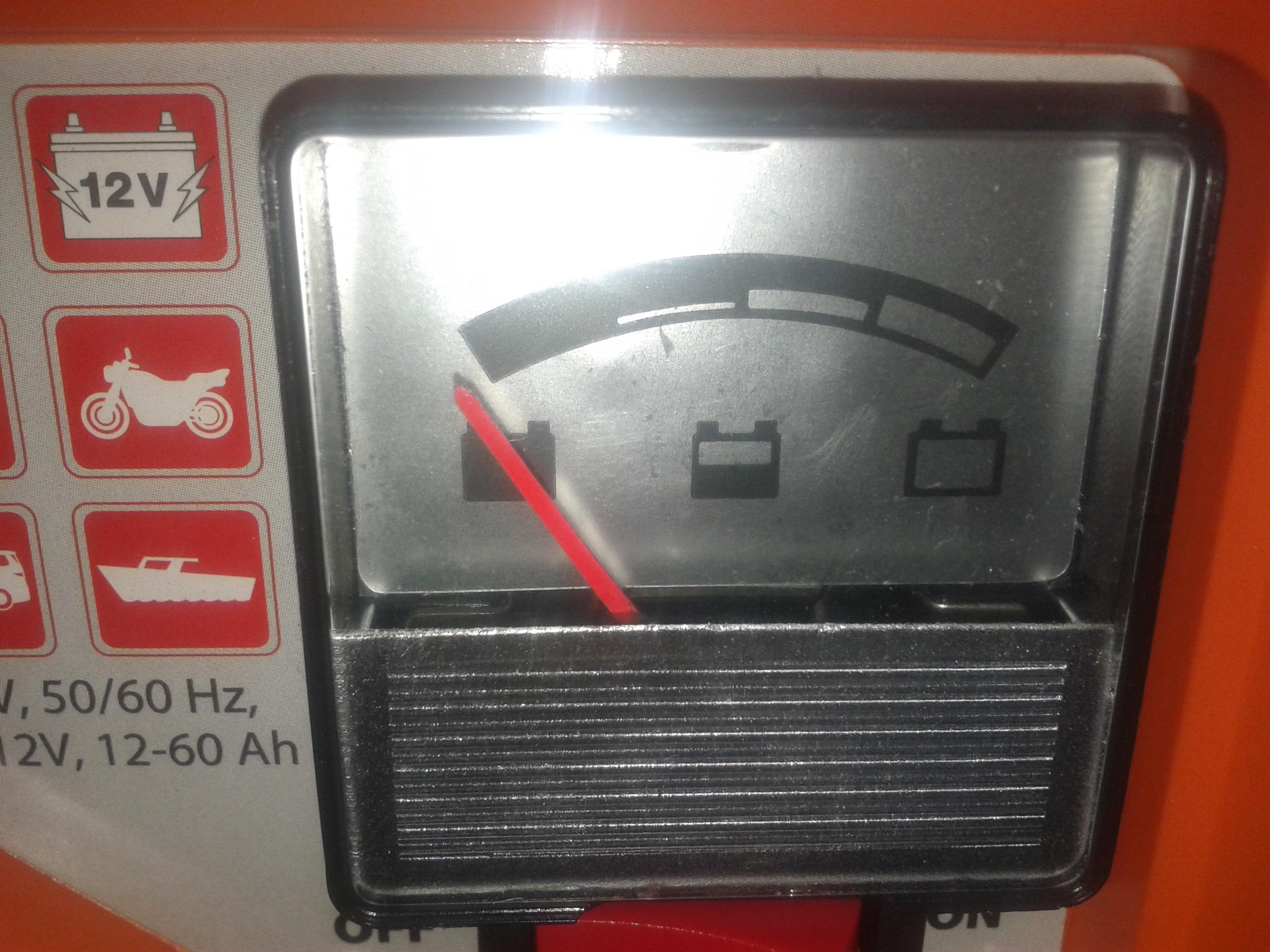 Prostownik �aduje akumulator tylko do polowy