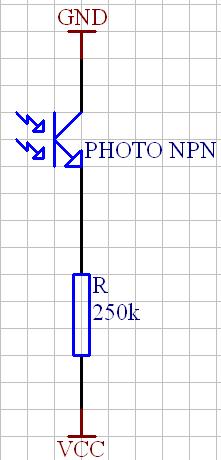 Odwrotne pod��czenie fototranzystora.