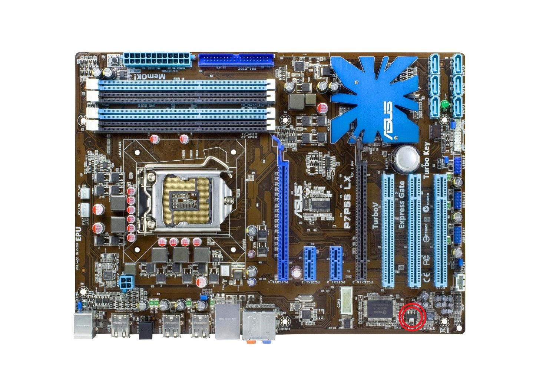 ASUS P7P55 LX - Uszkodzony tranzystor - brak oznaczenia