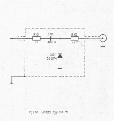 Schemat sondy w.cz. Meratronik model v40.25.