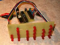 Zegar binarny na na mikroprocesorze Atmega8