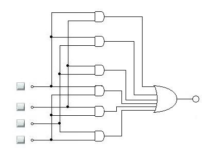Uklad alarmowy - bramki logiczne