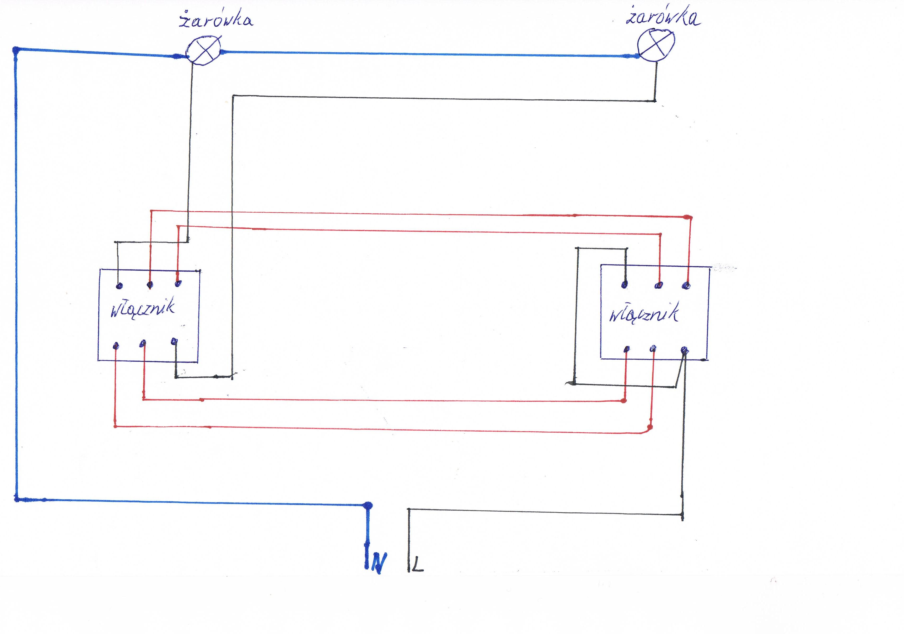 Jak Podłączyć Podwójny Włącznik Schodowy Schemat