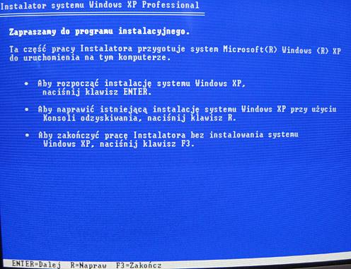 Asus 1000HD - Bootowanie Windowsa