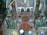 Wzmacniacz grundig v2000 dobór kondensatorów,wysoka temperatura wzmacniacza