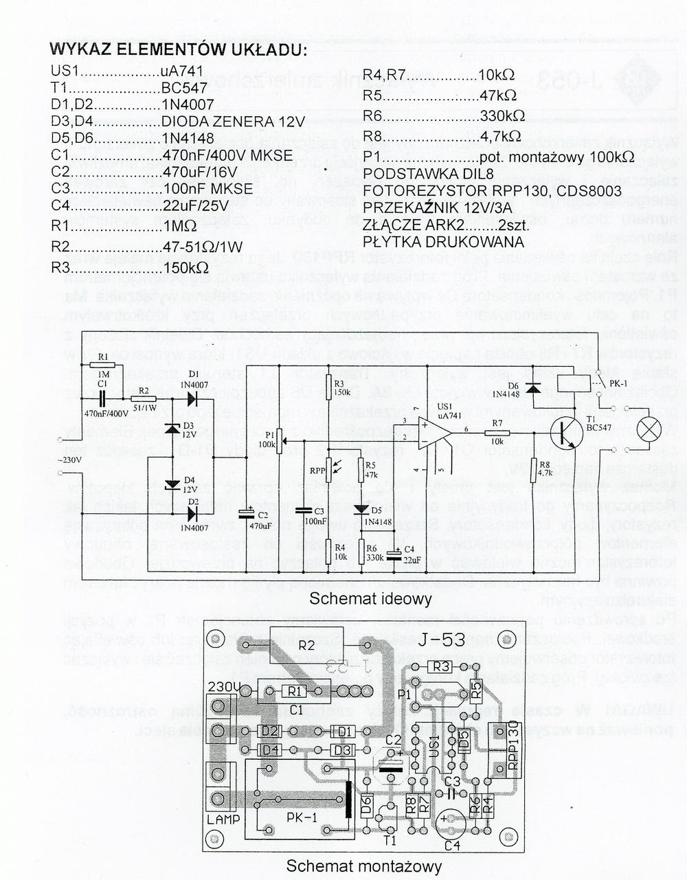 Przerobienie wy��cznika zmierzchowego z 230V na 5V