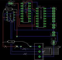 Ścieżki PCB w Eagle 6.0 - Sterownik silnika krokowego ne555 + 4017 + ULN2003