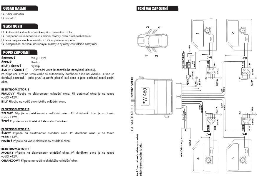 Chevrolet-ODB II - domykanie szyb po zamkni�ciu  samochodu z pilota oryginalnego