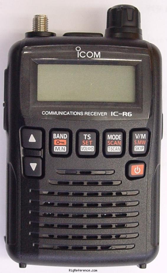 Icom R-6, R6 Instrukcja EN