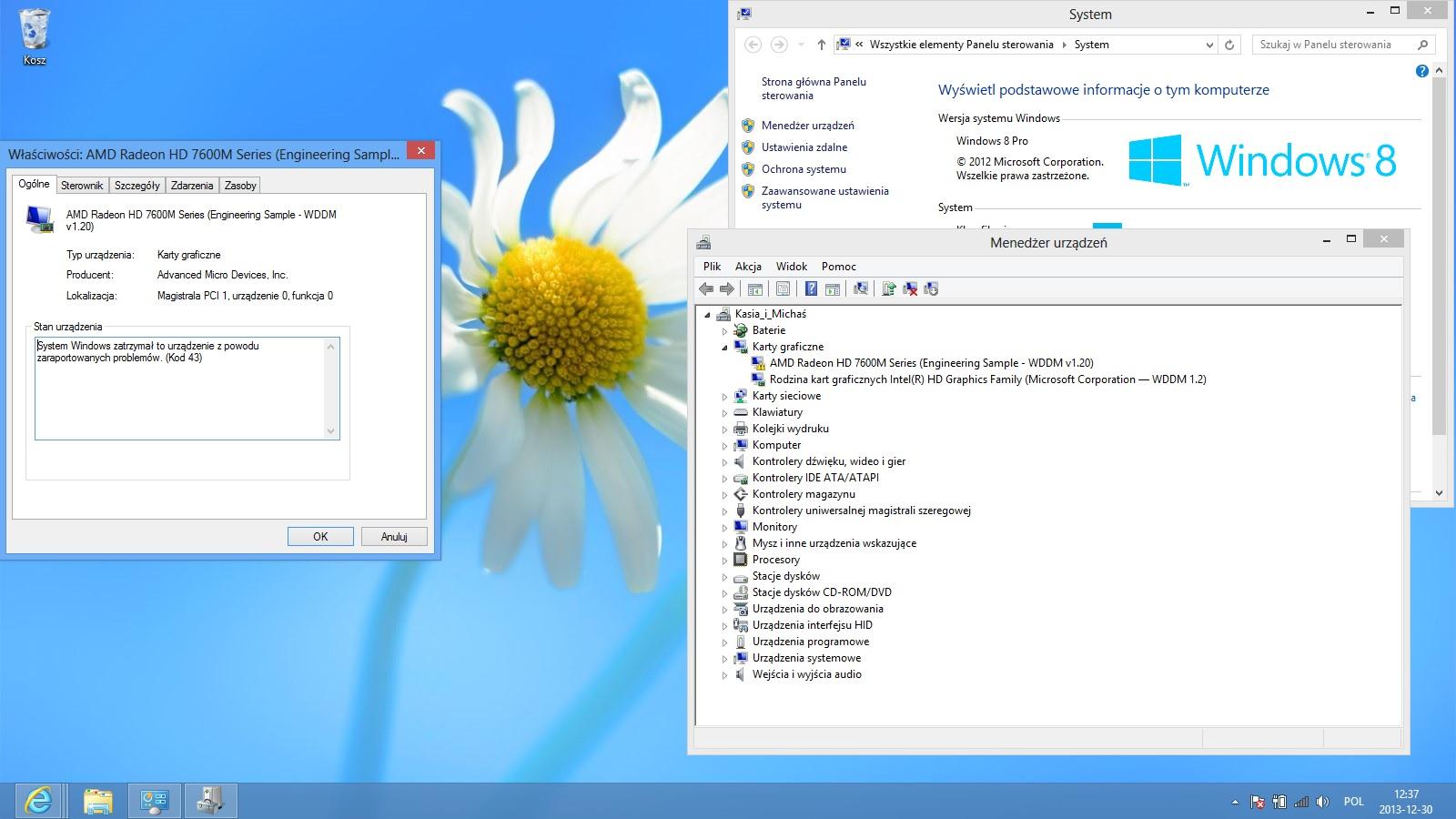 Dedykowana karta graficzna nie dzia�a na Windows 8